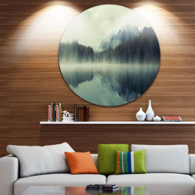 Designart Lake Herbert in Foggy Morning SeascapeMetal Artwork