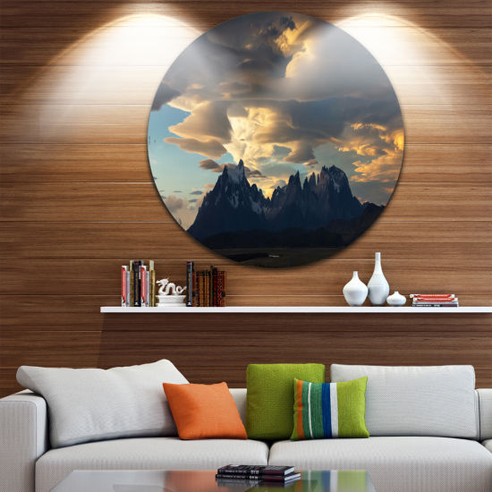 Designart Torres del Paine National Park LandscapeMetal Circle Wall Art
