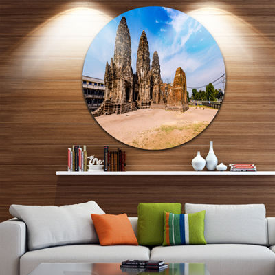Designart Ancient Temple in Thailand Panorama Seascape Metal Artwork