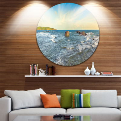 Designart The Indian Ocean Sea Panorama SeascapeMetal Artwork