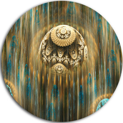 Designart Brown World of Infinite Universe Oversized Abstract Metal Art