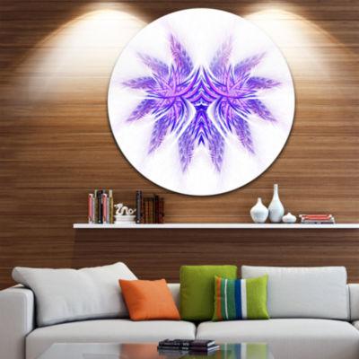 Designart Bright Purple Unique Fractal Flower Large Abstract Metal Artwork