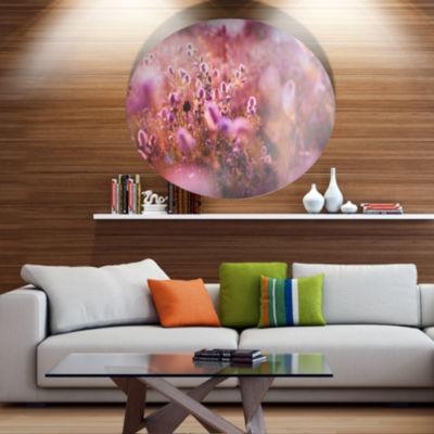 Designart Beautiful Summer Little Flowers Floral Metal Circle Wall Art