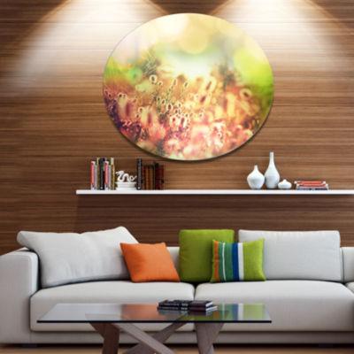 Designart Cute Summer Flowers on Meadow Floral Metal Circle Wall Art