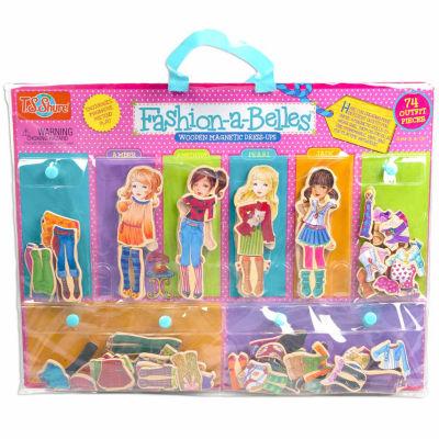 T.S. Shure - Fashion-A-Belles Mini Wooden Magnetic Dress-Up Dolls