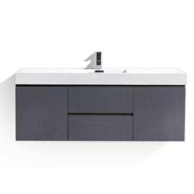 """Moreno Bath MOF 60"""" Single Sink Wall Mounted Modern Bathroom Vanity with Acrylic Sink"""""""