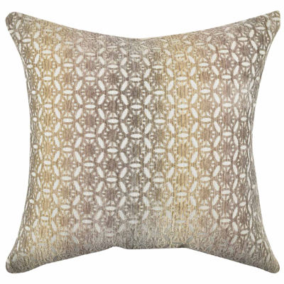 Vesper Lane Earth Tones Circle Link Throw Pillow