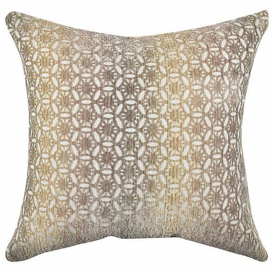 Vesper Lane Earth Tones Circle Link Throw Pillow