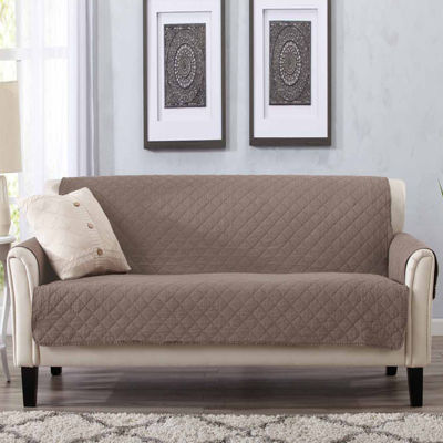 Delightful Deluxe Stonewashed Quilted Sofa Protector