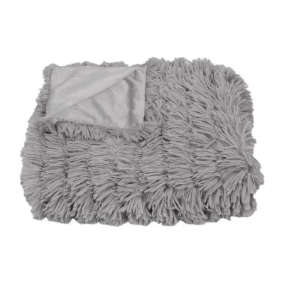 Effie Faux Fur Long Pile Decorative Throw