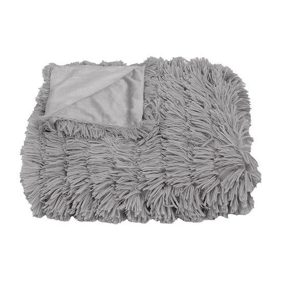 Effie Faux Fur Long Pile Decorative Throw