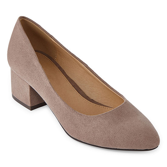 CL by Laundry Womens Highest Pointed Toe Block Heel Slip-on Pumps