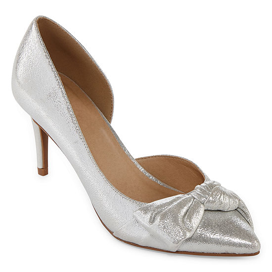 CL by Laundry Womens Olga Pointed Toe Cone Heel Slip-on Pumps