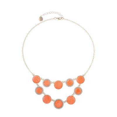Monet Jewelry Womens Orange Collar Necklace