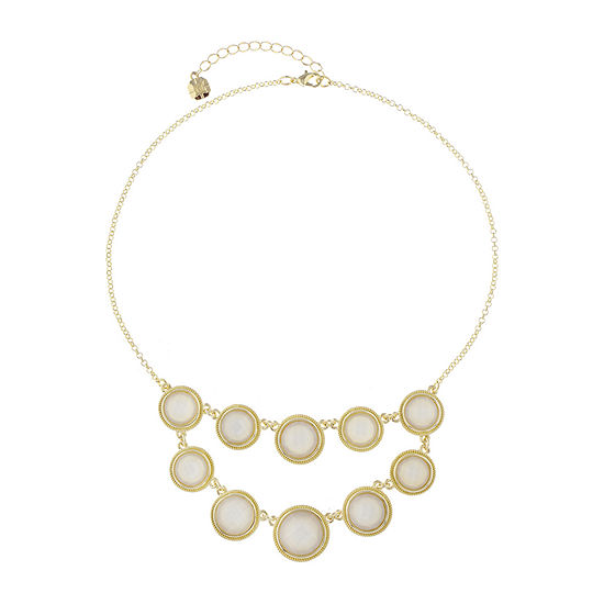 Monet Jewelry White 17 Inch Cable Collar Necklace