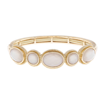 Monet Jewelry White Stretch Bracelet
