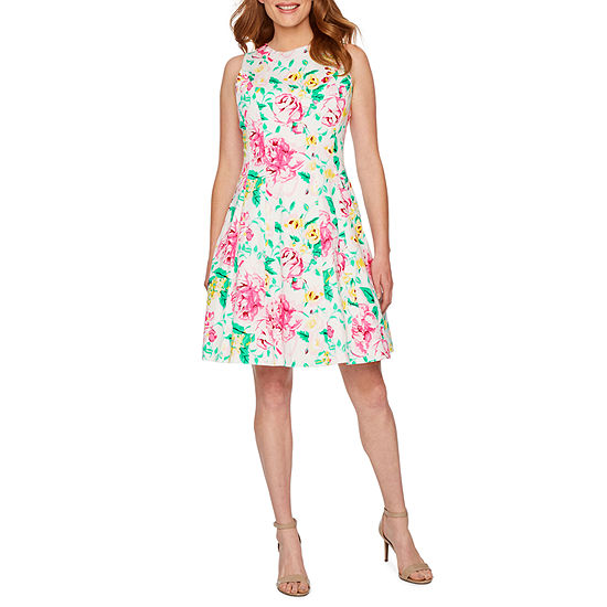 Ronni Nicole Sleeveless Floral Fit Flare Dress