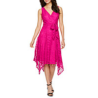 db388e19898 Danny   Nicole Sleeveless Floral Lace Wrap Dress