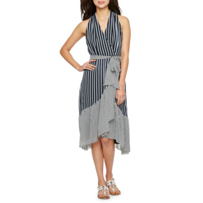 Danny & Nicole Sleeveless Stripe Dress