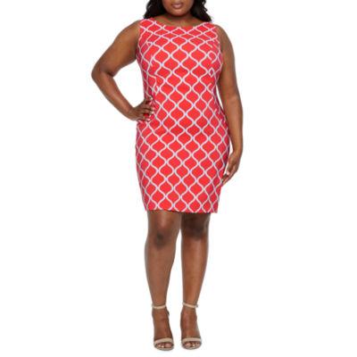 Alyx Sleeveless Geometric Sheath Dress-Plus