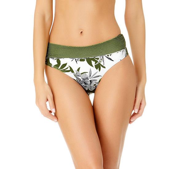 Liz Claiborne Floral High Waist Swimsuit Bottom