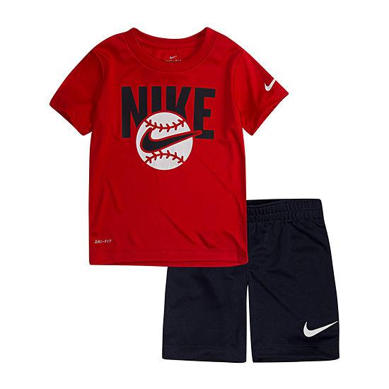 6918c824 Nike 2-pc. Short Set Toddler Boys - JCPenney