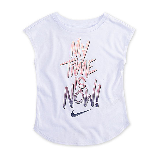 Nike Girls Crew Neck Sleeveless T-Shirt-Toddler