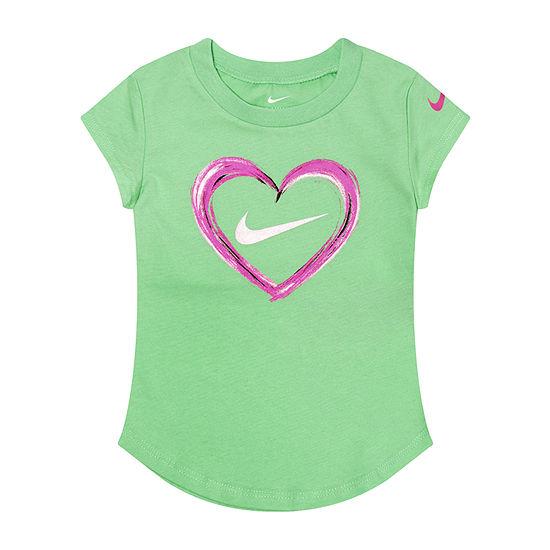 d4b81579a Nike Girls Crew Neck Short Sleeve Graphic T-Shirt-Toddler - JCPenney