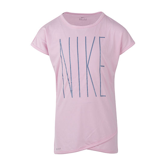 Nike Girls Round Neck Short Sleeve Dri-Fit Tunic Top - Preschool