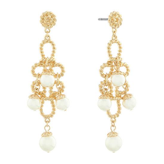 Monet Jewelry 90th Anniversary Chandelier Earrings