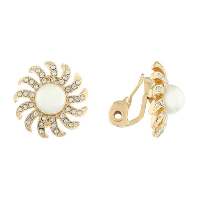 Monet Jewelry 90th Anniversary Clip On Earrings