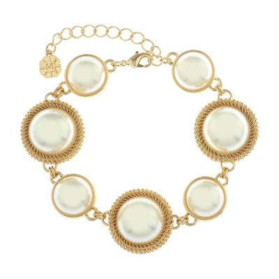 Monet Jewelry 90th Anniversary Gold Tone Chain Bracelet