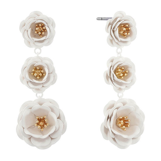 Monet Jewelry 90th Anniversary Drop Earrings