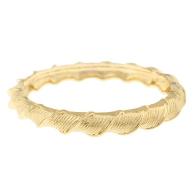 Monet Jewelry 90th Anniversary Gold Tone Bangle Bracelet
