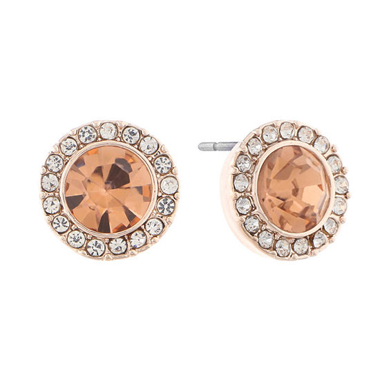 Monet Jewelry Orange 11.1mm Stud Earrings