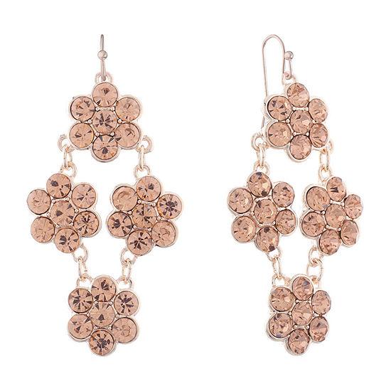 Monet Jewelry 1 Pair Orange Chandelier Earrings