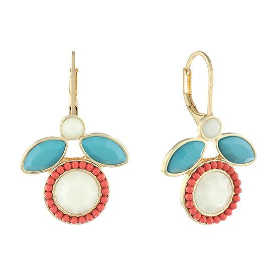 Liz Claiborne 1 Pair Multi Color Drop Earrings