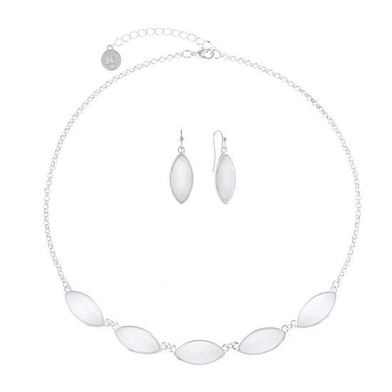 Liz Claiborne 2-pc. White Jewelry Set