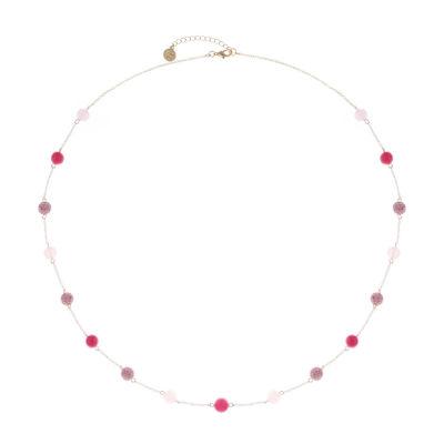 Liz Claiborne Womens Pink Strand Necklace