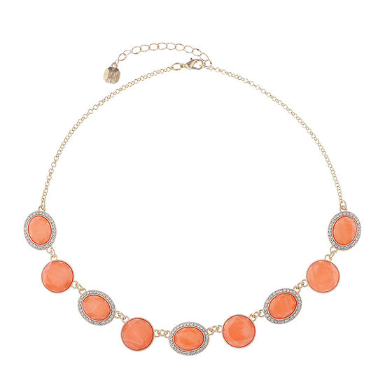 Monet Jewelry Orange 17 Inch Cable Collar Necklace