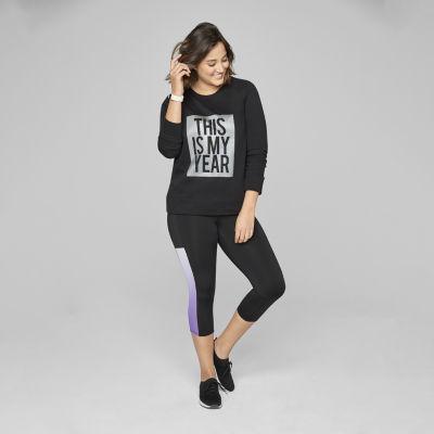 Xersion Womens Holographic Sweatshirt