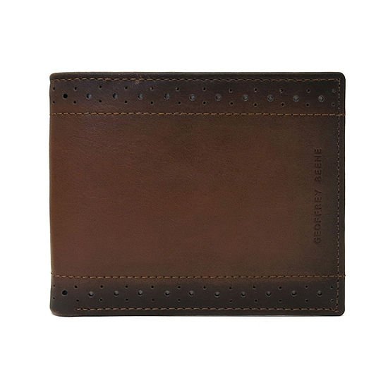 Geoffrey Beene® Perforated Edge Bi-Fold Wallet