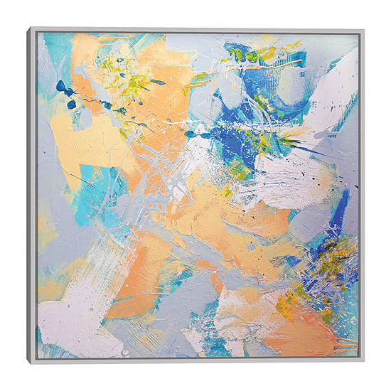 Dan Houston Peace 35x35 Embellished Canvas Art