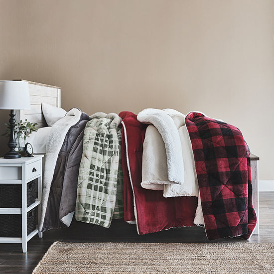 Home Expressions Faux Mink to Faux Sherpa Comforter & Accessories