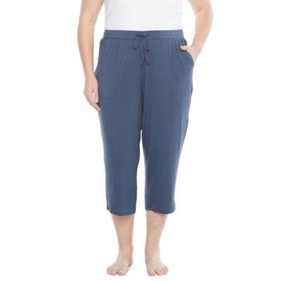 Ambrielle Capri Womens-Plus Pajama Pants