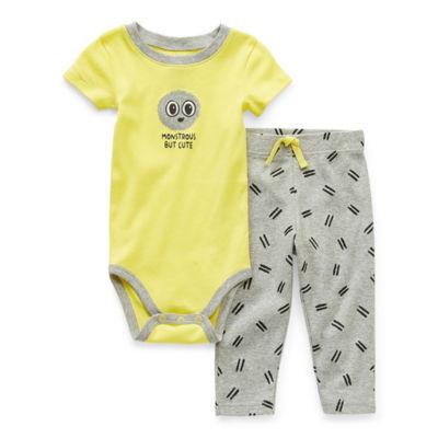 Okie Dokie Baby Boys 2-pc. Bodysuit Set