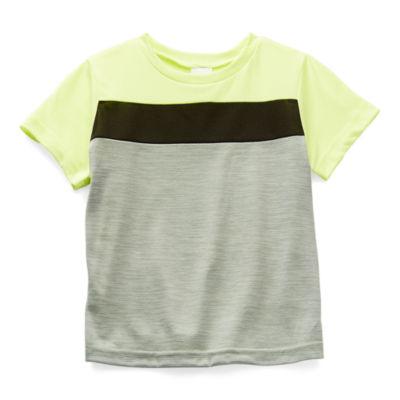 Okie Dokie Toddler Boys Active Crew Neck Short Sleeve T-Shirt
