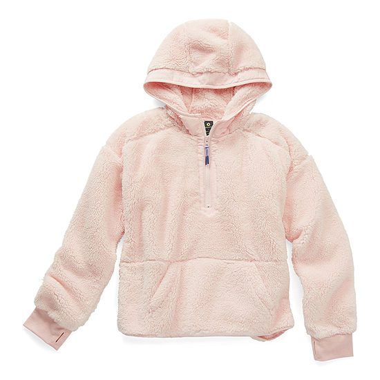 Xersion Little & Big Girls Drop Shoulder Sleeve Hoodie