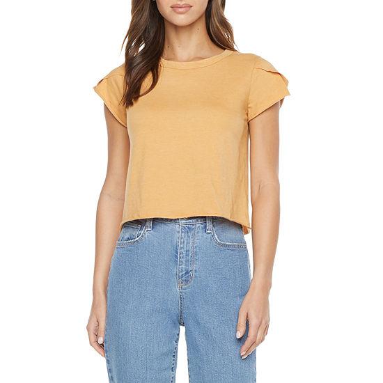 Arizona Juniors Womens Crew Neck Short Sleeve T-Shirt
