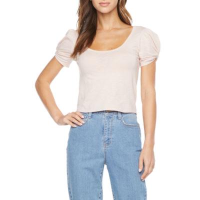 Arizona - Juniors Womens Scoop Neck Short Sleeve T-Shirt